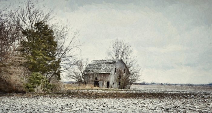 Abandoned Barn in Winter