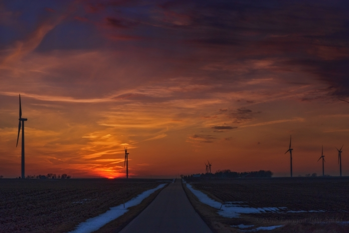 Evening Road Home in Late Winter