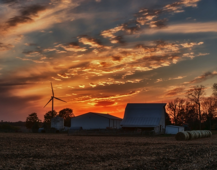 Fall Farm Sunset