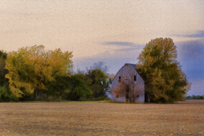 Prairie Barn in the Fall