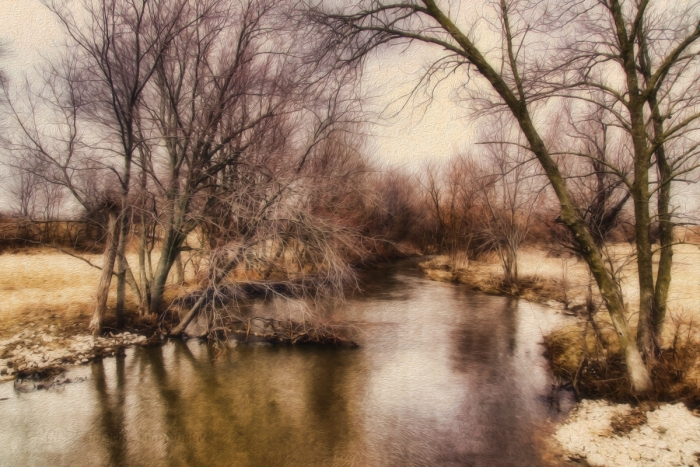 Awaiting Spring at a Prairie Stream