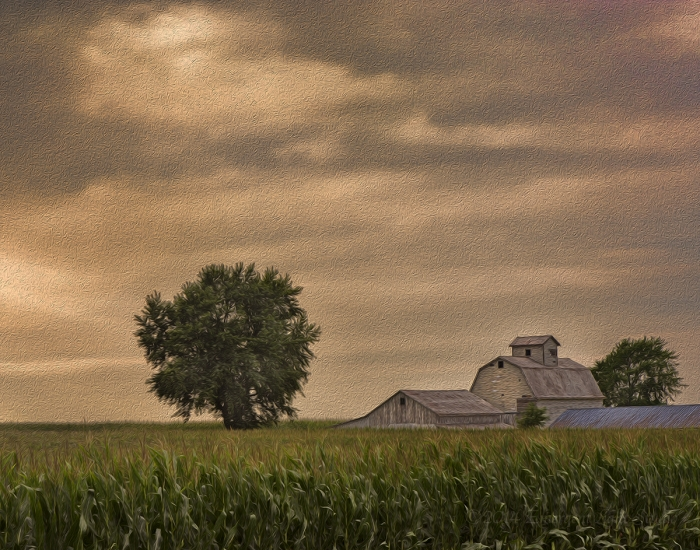 Farm on a Stormy Afternoon
