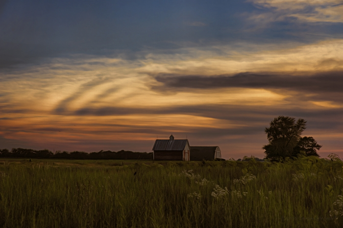 Summer Prairie Sunset