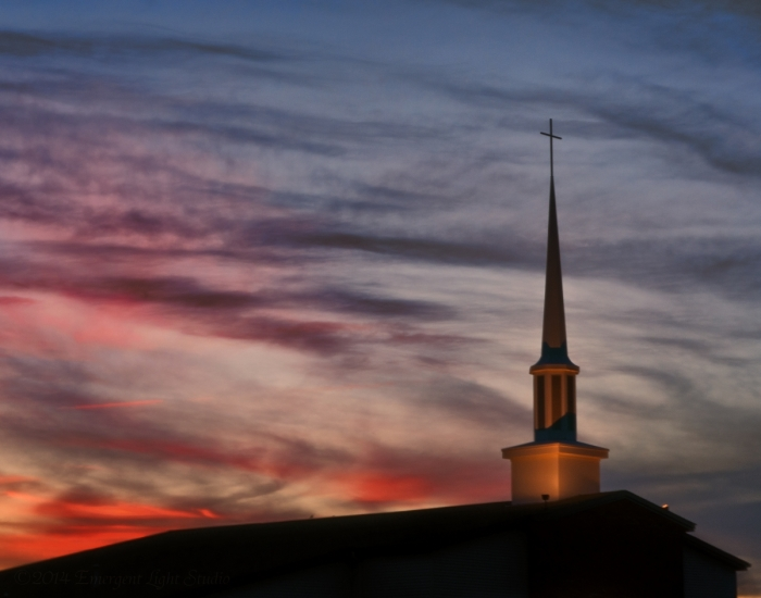 Sunset and the Steeple