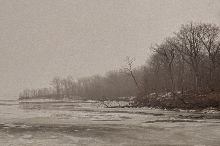 Winter Morning at a Prairie River