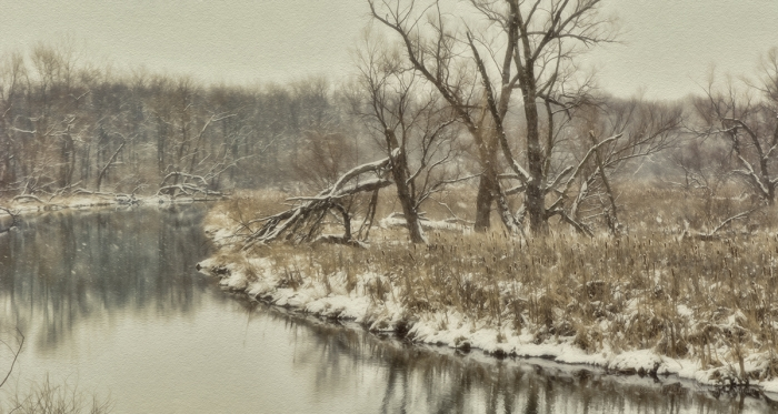 Winter at a Prairie River