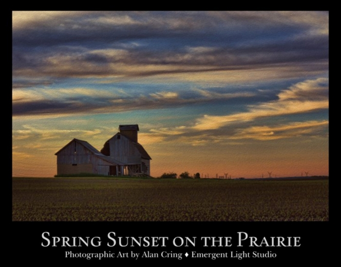 Spring Sunset on the Prairie