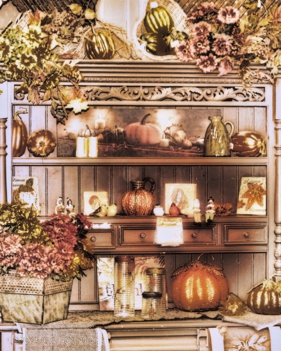 Shelves with Pretty Fall Things