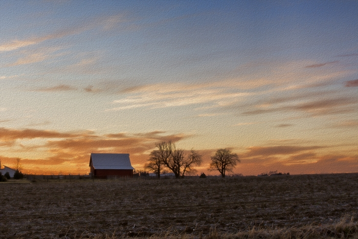 American Farm in Waning Afternoon