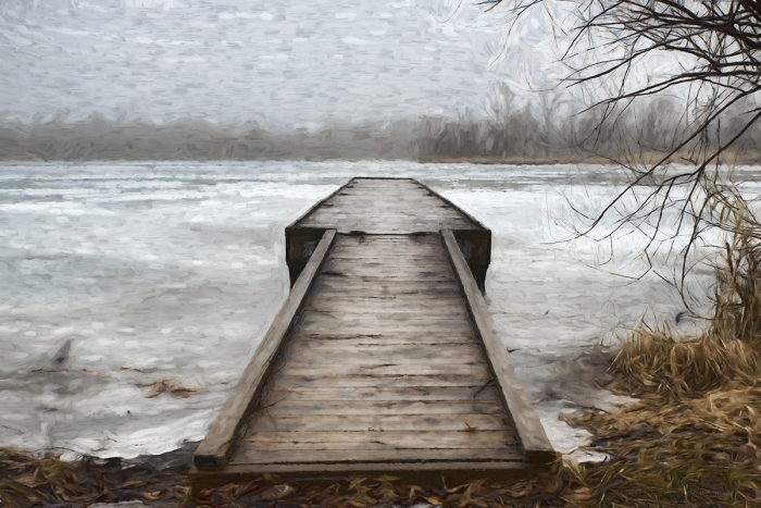 Dock at an Icy River