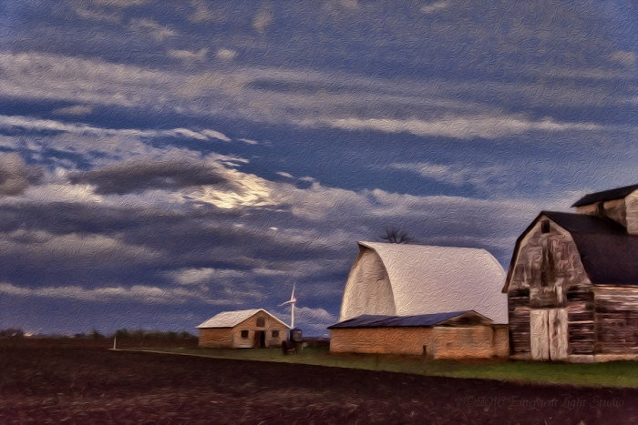 Early Evening on a Prairie Farm