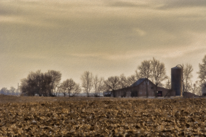 Farmland and Barn
