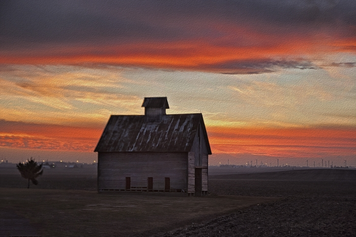 In the Glory of a Prairie Sunset