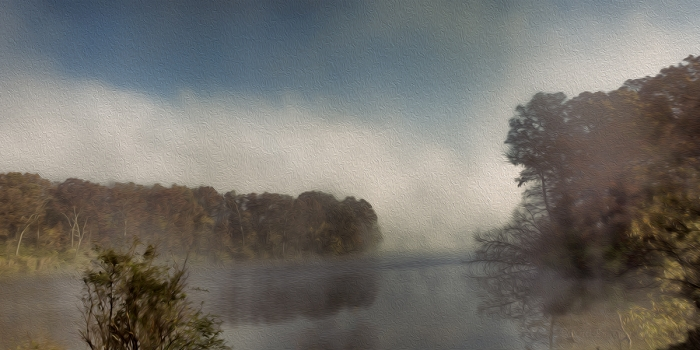 River Mist on an Autumn Morning