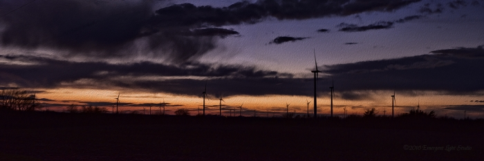 Just before Evening at a Rural Wind Farm