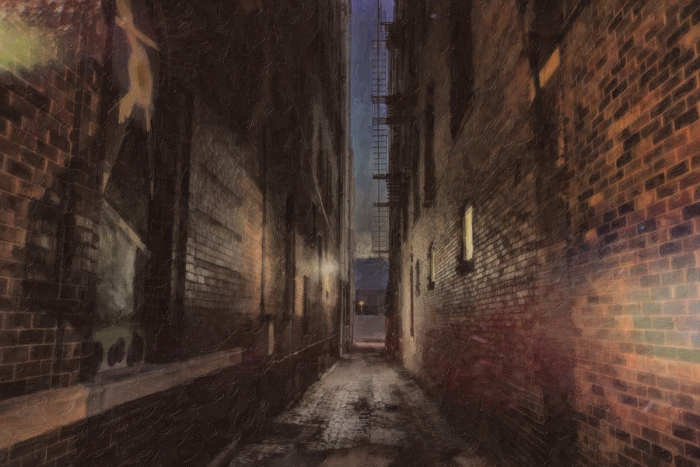 Urban Alley near Twilight