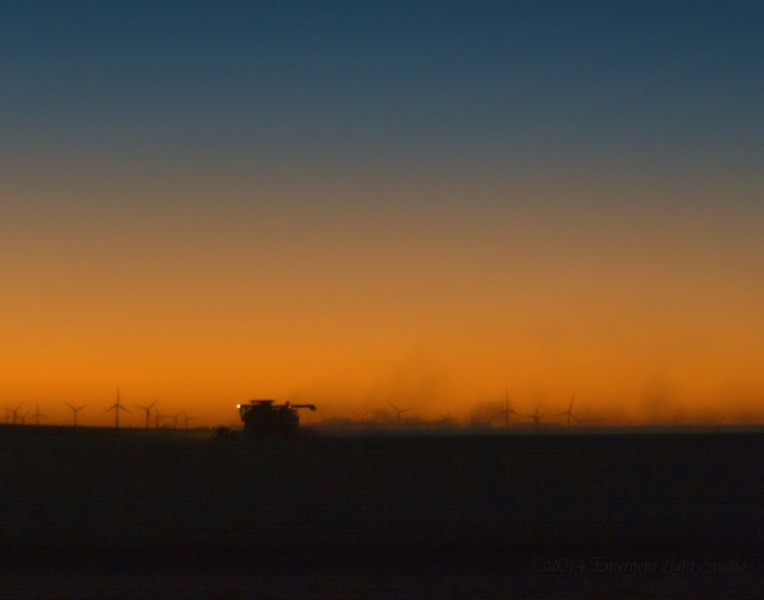 October Nightfall on the American Prairie